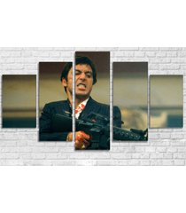 large framed scarface al pacino canvas print home decor wall five piece