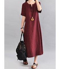 celmia coffee round neck half sleeves dress