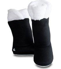 pantuflas tipo botas calentadoras negras