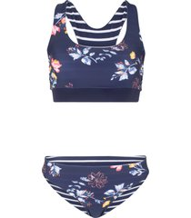 bikini double face a bustier (set 2 pezzi) (blu) - bpc bonprix collection