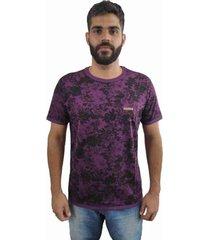 camiseta hifen dupla face azul - azul/preto/rosa/roxo - masculino - algodã£o - dafiti