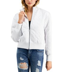 guess cici quilted bomber jacket