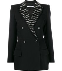 givenchy crystal embellished double-breasted blazer - black
