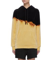 duotonal cotton blend hoodie