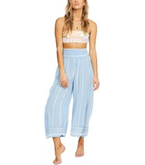 billabong juniors' all lined up cropped pants