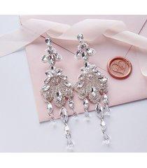 rosalia - długie, kryształowe kolczyki ślubne