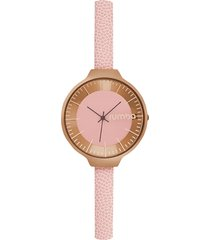 rose gold orchard leather watch