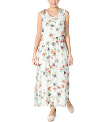 robbie bee petite chiffon cowlneck floral maxi dress