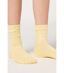 calzedonia short sport socks woman yellow size tu