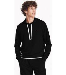 tommy hilfiger men's solid lounge hoodie black - xl