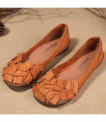 scarpe basse vintage da uomo in pelle di vacchetta