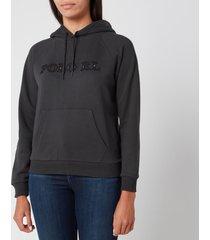polo ralph lauren women's hooded logo sweatshirt - black mask - l