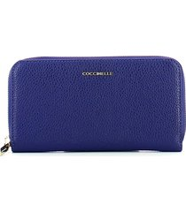 coccinelle womens blue wallet