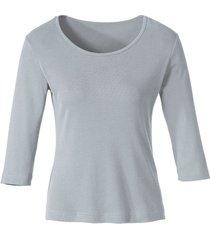 biokatoenen shirt met ronde hals, grijs-gemêleerd 40/42