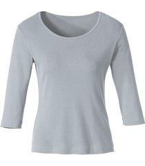 biokatoenen shirt met ronde hals, grijs-gemêleerd 36