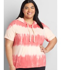 lane bryant women's livi french terry hooded sweatshirt - tie-dye 14/16 large tie dye