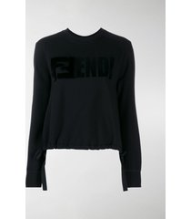 fendi ffendi logo sweatshirt