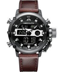 reloj cuarzo deportivo hombre luminoso megalith 8051 negro