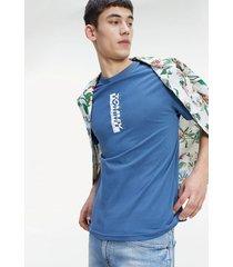 polera vertical logo azul tommy jeans