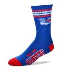 for bare feet new york rangers 4 stripe deuce crew socks