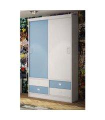 guarda-roupa 2 portas baby azul percasa móveis