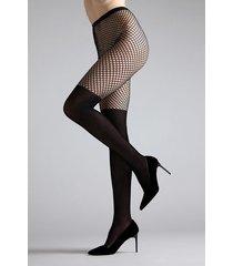 natori maxi top net tights, women's, black, size xl natori