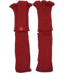polaina ayron fitness max lã com botão vermelho