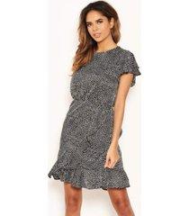 ax paris women's polka dot wrap frill mini dress