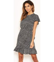 ax paris women's polka dot wrap frill mini dress