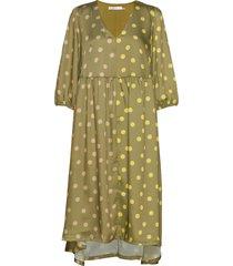 evelinagz dress m20 knälång klänning grön gestuz