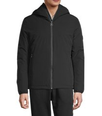 roberto cavalli men's hooded winter jacket - black - size xl