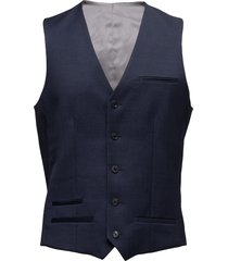 breck stretch suit gilet blauw matinique
