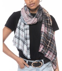 inc international concepts patched plaid scarf, created for macy's