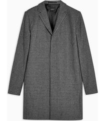 mens grey selected homme gray houndstooth check coat