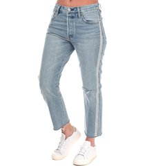 womens 501 crop diamond in the rough jeans