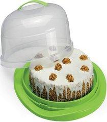 boleira redonda com tampa e trava p/bolo