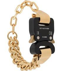 1017 alyx 9sm buckled chain bracelet - gold