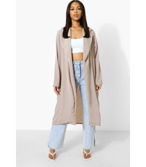 duster jas met kraag, grey