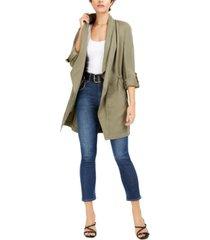 bar iii drape-front anorak jacket, created for macy's