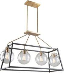 artcraft bridgetown 4 light cage pendant