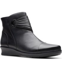 clarks collection women's hope twirl leather booties women's shoes