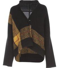 pierantoniogaspari short sweater w/tartan insert