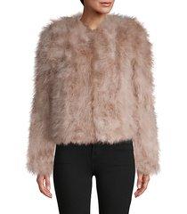 roundneck feather jacket
