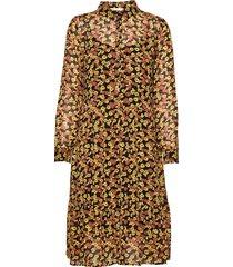 annabelle print dress jurk knielengte geel modström