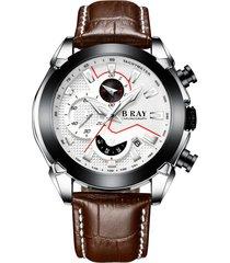 reloj b ray 9006 cronografo - café