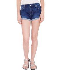 women's paige jj high waist raw cuff denim shorts
