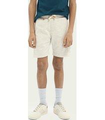 scotch & soda label detail sweat shorts
