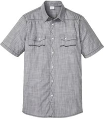 camicia di jeans a maniche corte (grigio) - john baner jeanswear