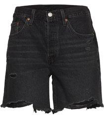 501 mid thigh short bees knees shorts denim shorts svart levi´s women