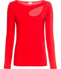 maglia con cut-out (rosso) - bodyflirt